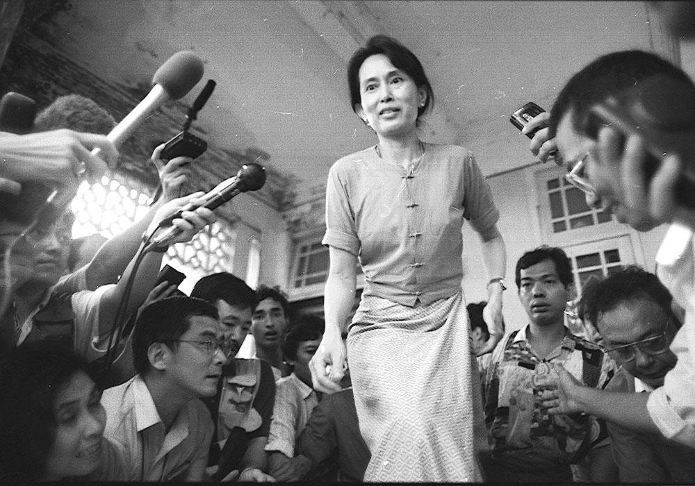 1991 Nobel Peace Prize awardee Aung San Suu Kyi