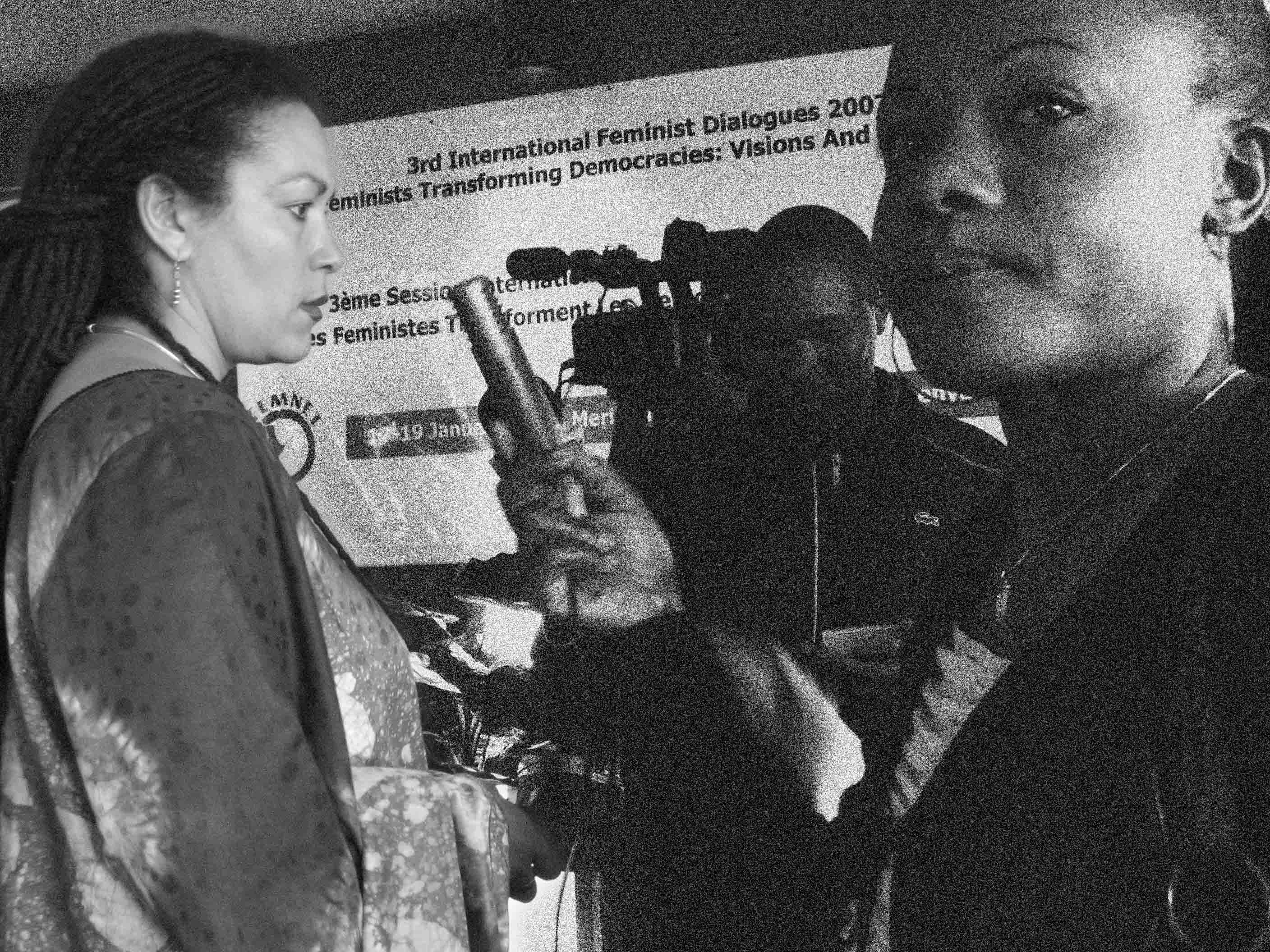 L. Muthoni Wanyeki at the Press Conference of the Feminist Dialogues in Nairobi, Kenya