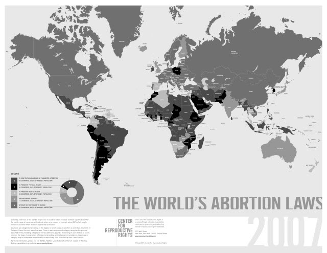 The World's Abortion Law Map 2007